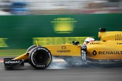 Кевін Магнуссен, Renault Sport F1 Team RS16 блокує колеса на гальмуванні