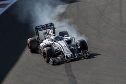 Felipe Massa, Williams FW38 bloquea los frenos