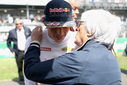 Max Verstappen, Red Bull Racing talks con Bernie Ecclestone