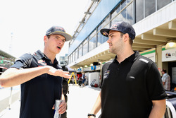 Max Verstappen, Red Bull Racing talks with Felipe Fraga, Brazilian Touring Car driver