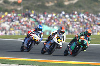 Adam Norrodin, Drive M7 SIC Racing Team, Honda; Albert Arenas, Peugeot MC Saxoprint, Peugeot; Jules Danilo, Ongetta-Rivacold, Honda
