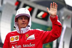 Kimi Raikkonen, Ferrari nella parata dei piloti