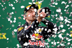 Podium: derde plaats Max Verstappen, Red Bull Racing