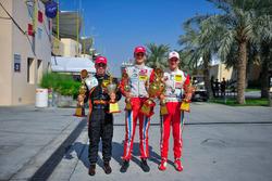 Race winner Ralf Aron, second place Joey Mawson, third place Mick Schumacher