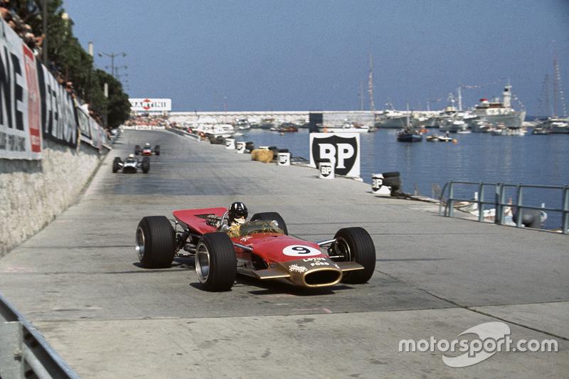 Graham Hill en Mónaco en 1968, año en el que ganó su segundo Mundial