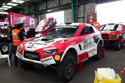 Mitsubishi car prepared for the long journey to Buenos Aires