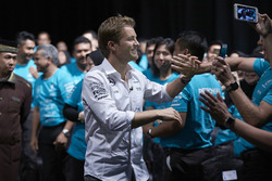 Petronas employees welcome Nico Rosberg, Mercedes AMG F1