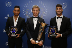 Top 3 der Formel-1-WM 2016: Weltmeister Nico Rosberg, 2. Lewis Hamilton, 3. Daniel Ricciardo