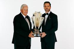 NASCAR-Champion Jimmie Johnson, Hendrick Motorsports, Chevrolet, mit Teambesitzer Rick Hendrick