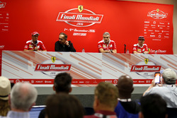 Press Conference: Sebastian Vettel, Ferrari; Sergio Marchionne, President Ferrari; Maurizio Arrivabene, Team principal Ferrari; Kimi Raikkonen, Ferrari