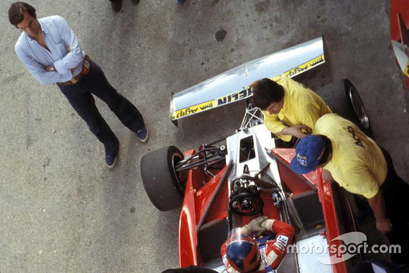 Giorgio Piola et Gilles Villeneuve, Ferrari à Kyalami le 4 mars 1978