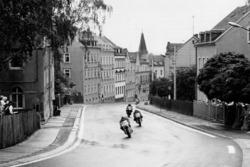 Rennaction am Sachsenring 1988