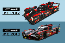Comparison between Audi R18 2017 and R18 2016