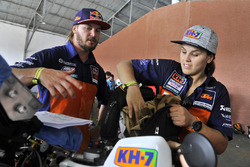 Laia Sanz with Toby Price, Red Bull KTM Factory Team
