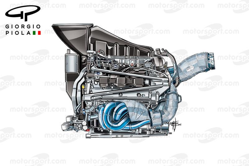 Motore Honda 2015, vista laterale