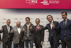 Horacio de la Vega, direttore di Indeporte, José Abed, Vicepresidente FIA Messico,Esteban Gutiérrez e Alejandro Agag, CEO Formula E