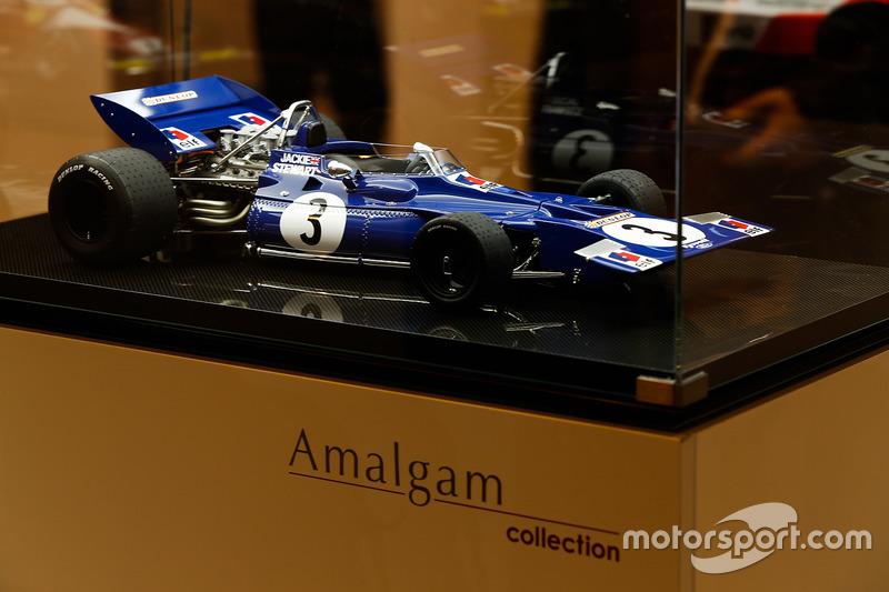 Une miniature Amalgam d'une Tyrrell 001 Ford
