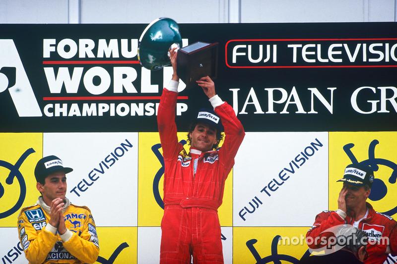 Podyum: 1. Gerhard Berger, Ferrari, 2. Ayrton Senna, Team Lotus, 3. Stefan Johansson, McLaren