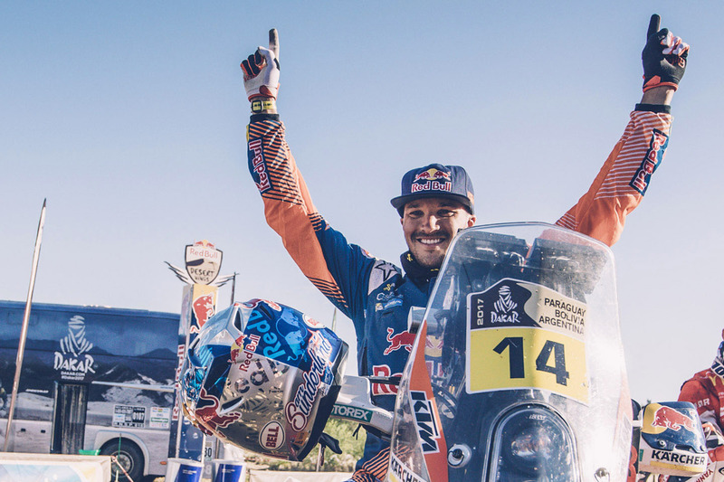 Dakar-winnaar Sam Sunderland, Red Bull KTM Factory Racing