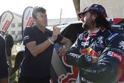 Давид Кастера, Peugeot Sport, и спортивный директор Ралли Дакар Марк Кома