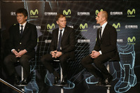Kouichi Tsuji, Gerneral Manager Motorsport Development Division, Yamaha Motors, Lin Jarvis, Yamaha Factory Racing Managing Director, Massimo Meregalli, Yamaha Factory Racing Team Director