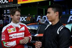 Sebastian Vettel and Pascal Wehrlein