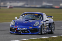 #11 GMG Racing, Porsche Cayman GT4 MR: Elias Sabo, James Sofronas, Matthew Halliday