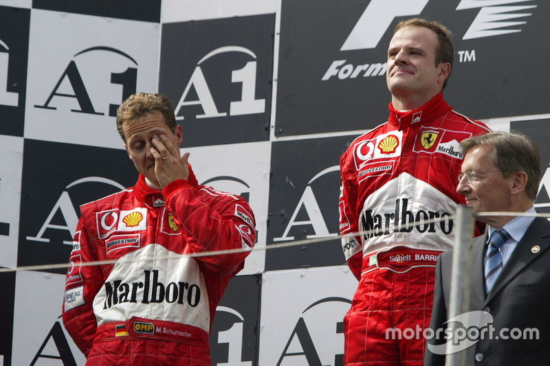 La orden de equipo de Ferrari en 2002