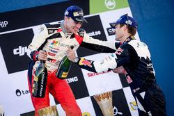 Podium: winner Jari-Matti Latvala, Toyota Racing and third place Sébastien Ogier, M-Sport