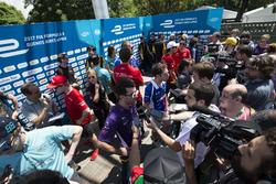 Jose Maria Lopez, DS Virgin Racing, Spark-Citroen, Virgin DSV-02 y Robin Frijns, Amlin Andretti Formula E Team, Spark-Andretti, ATEC-02