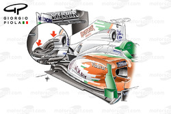 Force India VJM04 air intake, detailed