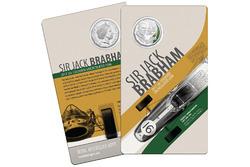 Монета в честь Джека Брэбэма от Королевского австралийского монетного двора