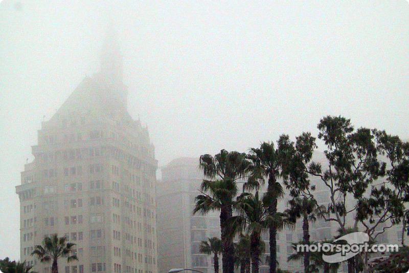 A foggy Sunday morning in Long Beach