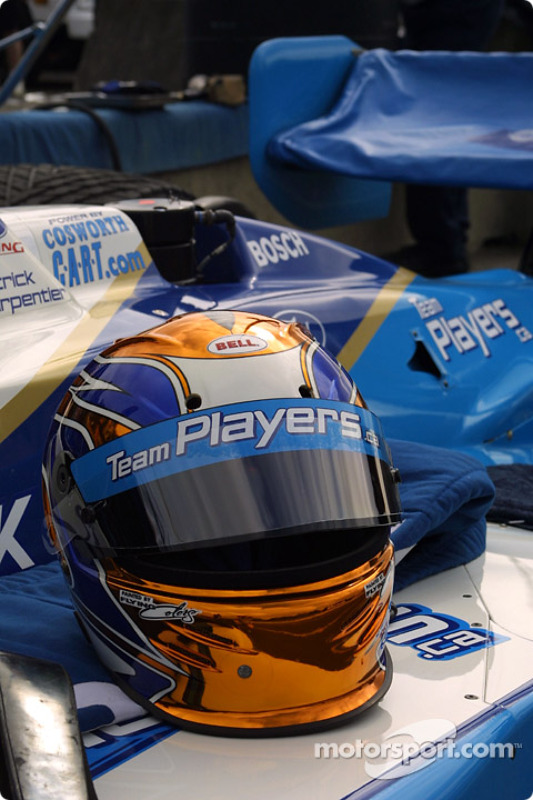 Patrick Carpentier's helmet
