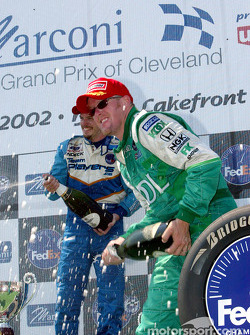 The podium: Patrick Carpentier and Paul Tracy