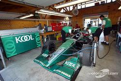 Team KOOL Green garage area