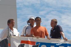 Honorary starter Juan Pablo Montoya
