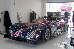 ALMS Panoz car ready for demonstration laps