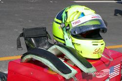 Christian Fittipaldi's helmet