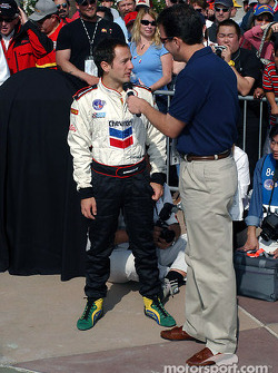Last year's winner Cristiano da Matta now has his name on the Walk of Fame at California Speedway