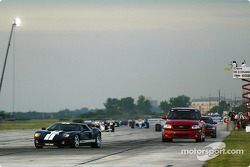Pace lap, led by the new Ford GT40