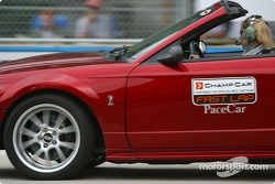 Champ Car official pace car team on track