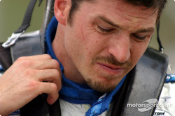 Patrick Carpentier after his crash