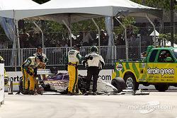 Bruno Junqueira after his crash