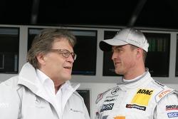 Norbert Haug, Sporting Director Mercedes-Benz and Ralf Schumacher, Team HWA AMG Mercedes, AMG Mercedes C-Klasse