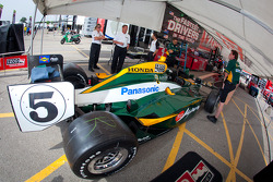 Car of Takuma Sato, KV Racing Technology-Lotus at technical inspection