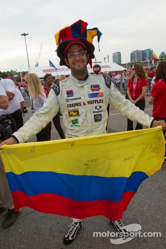 Gustavo Yacaman, Team Moore Racing celebrates third place finish