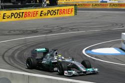 Nico Rosberg Mercedes Grand Prix drives Demo laps