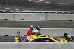 David Coulthard, Mücke Motorsport, AMG Mercedes C-Klasse después del choque