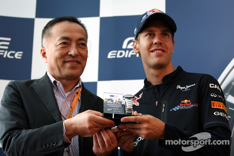 The launch of the new Casio Edifice, Sebastian Vettel, Red Bull Racing